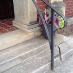 Exterior Hand Rail Arts Center - Black Mountain Iron