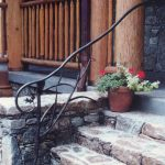 Exterior Oak Leaf Hand Rail - Black Mountain Iron