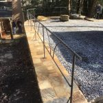 Parking Area Railing - Black Mountain Iron