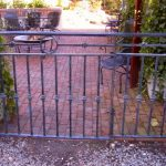 Patio Gate - Black Mountain Iron