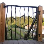 Small Porch Safety Gate - Black Mountain Iron