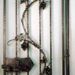 Wine Cellar Gate - Black Mountain Iron